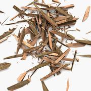 Houten plank puin zaagsel zaag bos zagerij timmerhout timmerhout (2) (2) 3d model