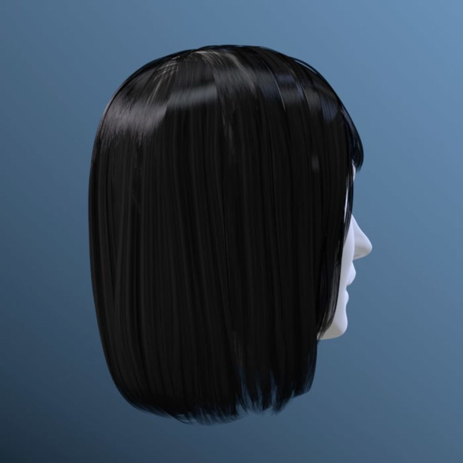 Impacco di capelli femminili royalty-free 3d model - Preview no. 20
