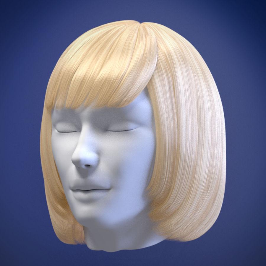 Hårpaket för kvinnor royalty-free 3d model - Preview no. 10