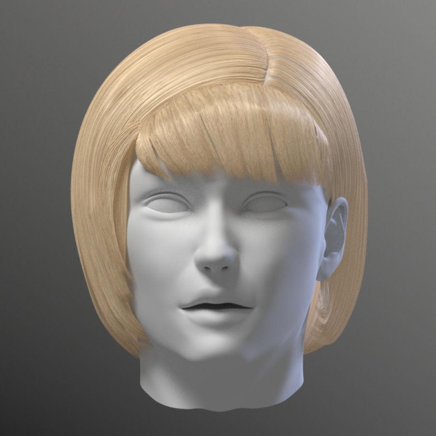 Hårpaket för kvinnor royalty-free 3d model - Preview no. 16