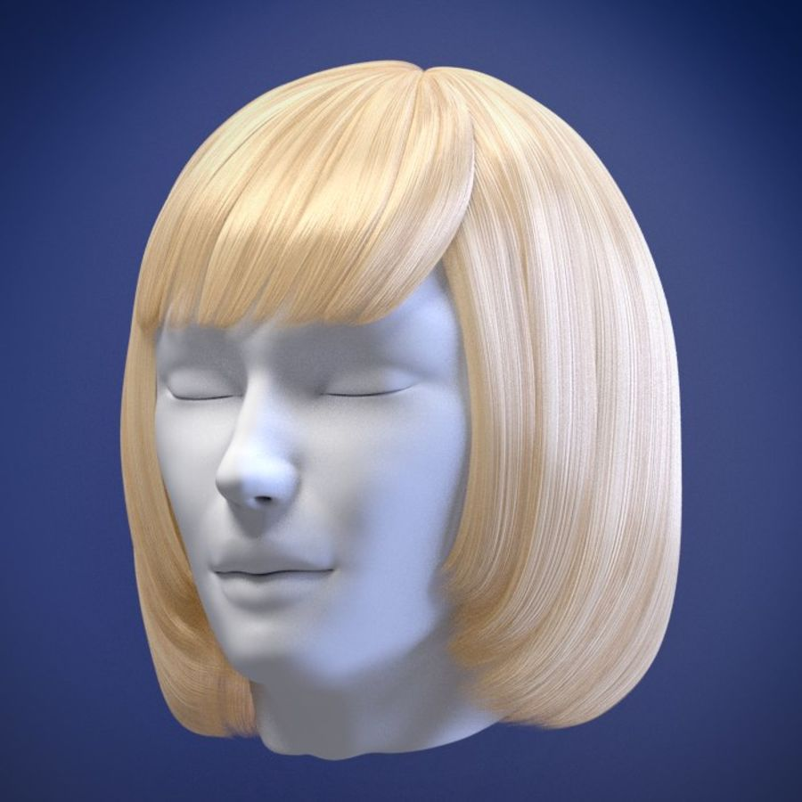 Impacco di capelli femminili royalty-free 3d model - Preview no. 8