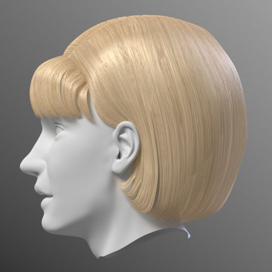 Impacco di capelli femminili royalty-free 3d model - Preview no. 12