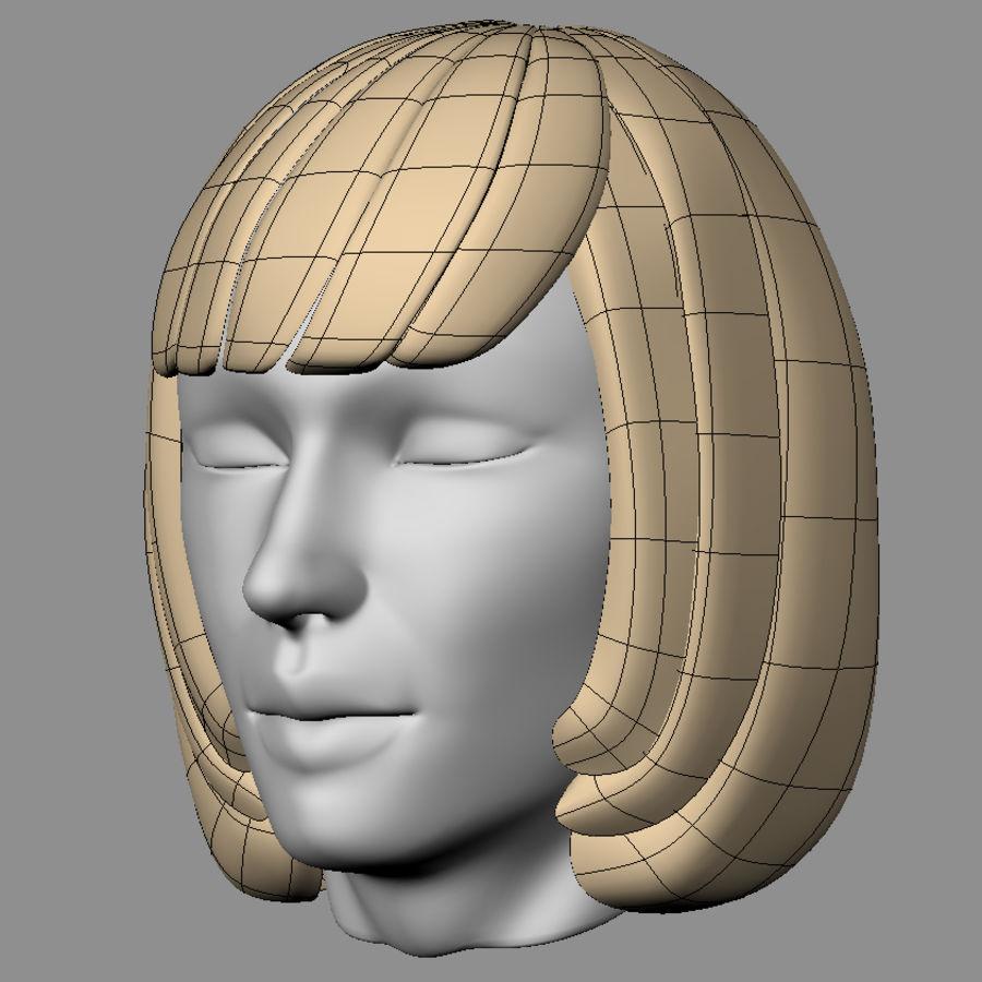 Hårpaket för kvinnor royalty-free 3d model - Preview no. 12
