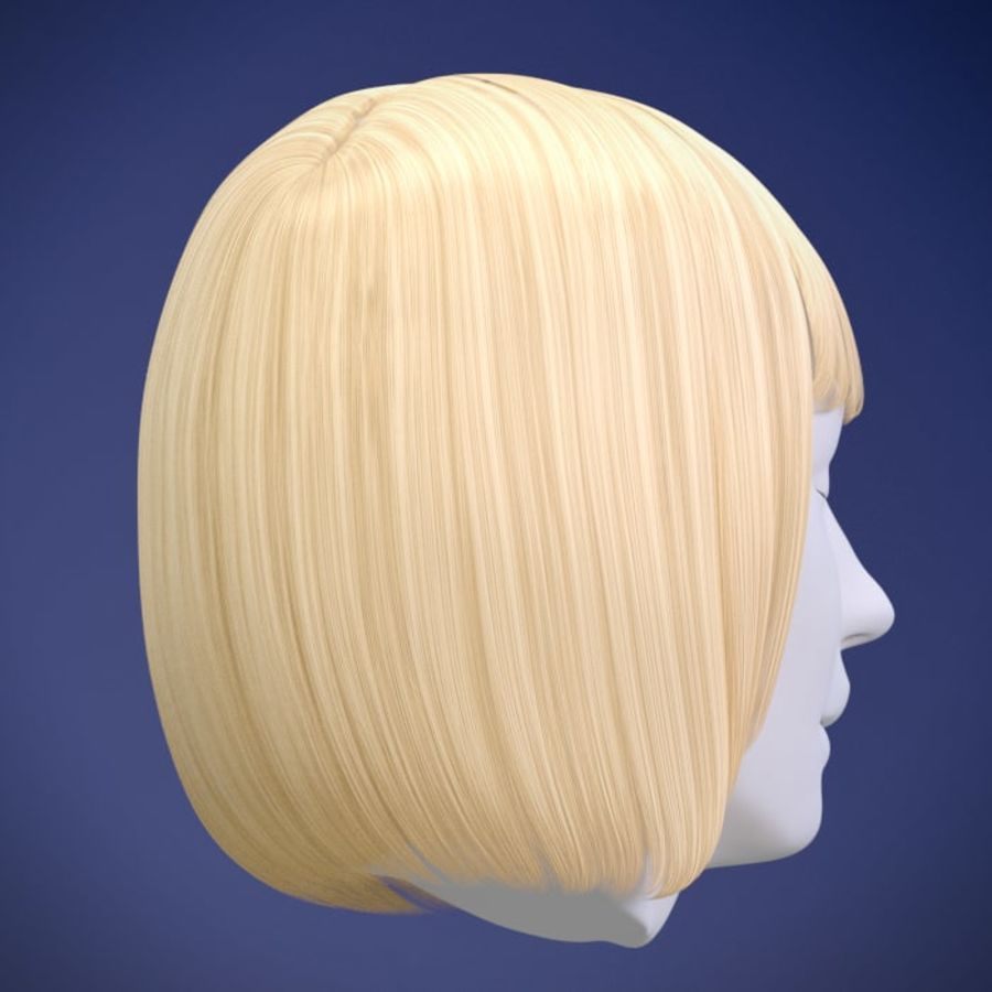 Impacco di capelli femminili royalty-free 3d model - Preview no. 9