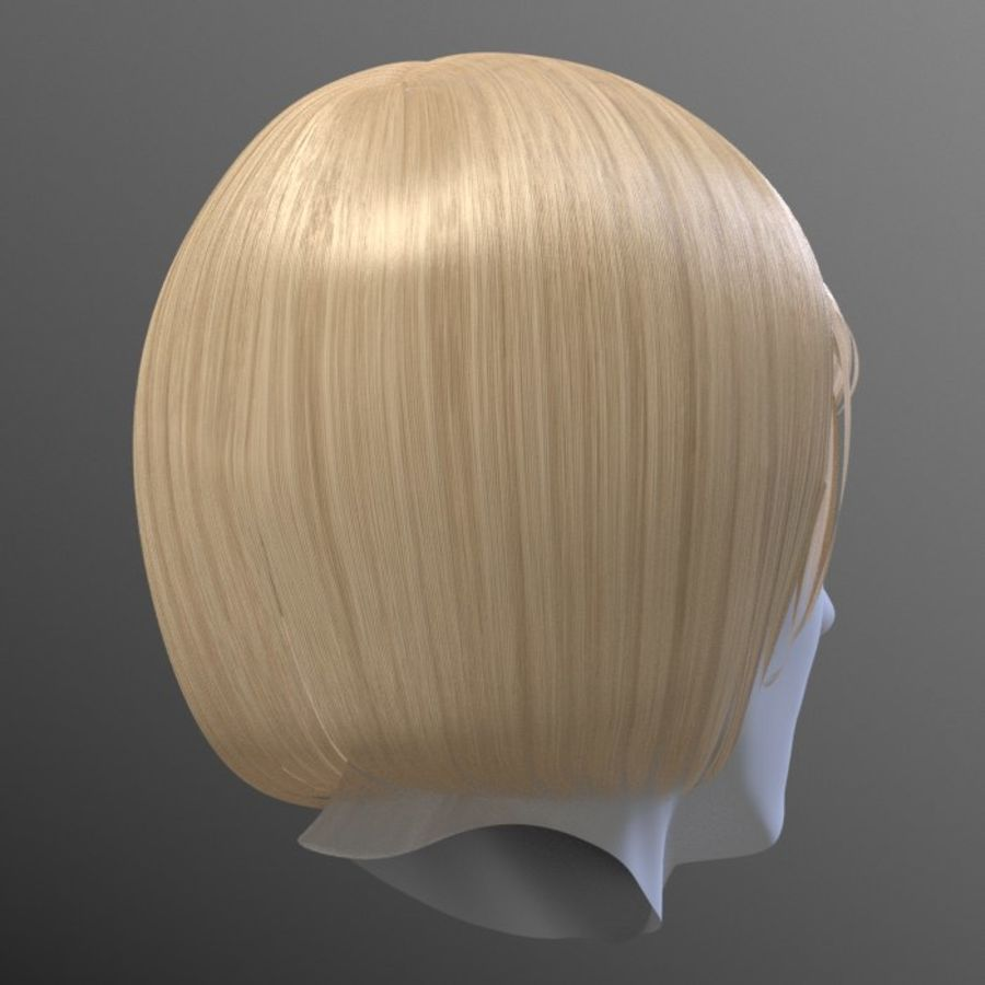 Impacco di capelli femminili royalty-free 3d model - Preview no. 13
