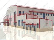 construção de fábrica (2) 3d model