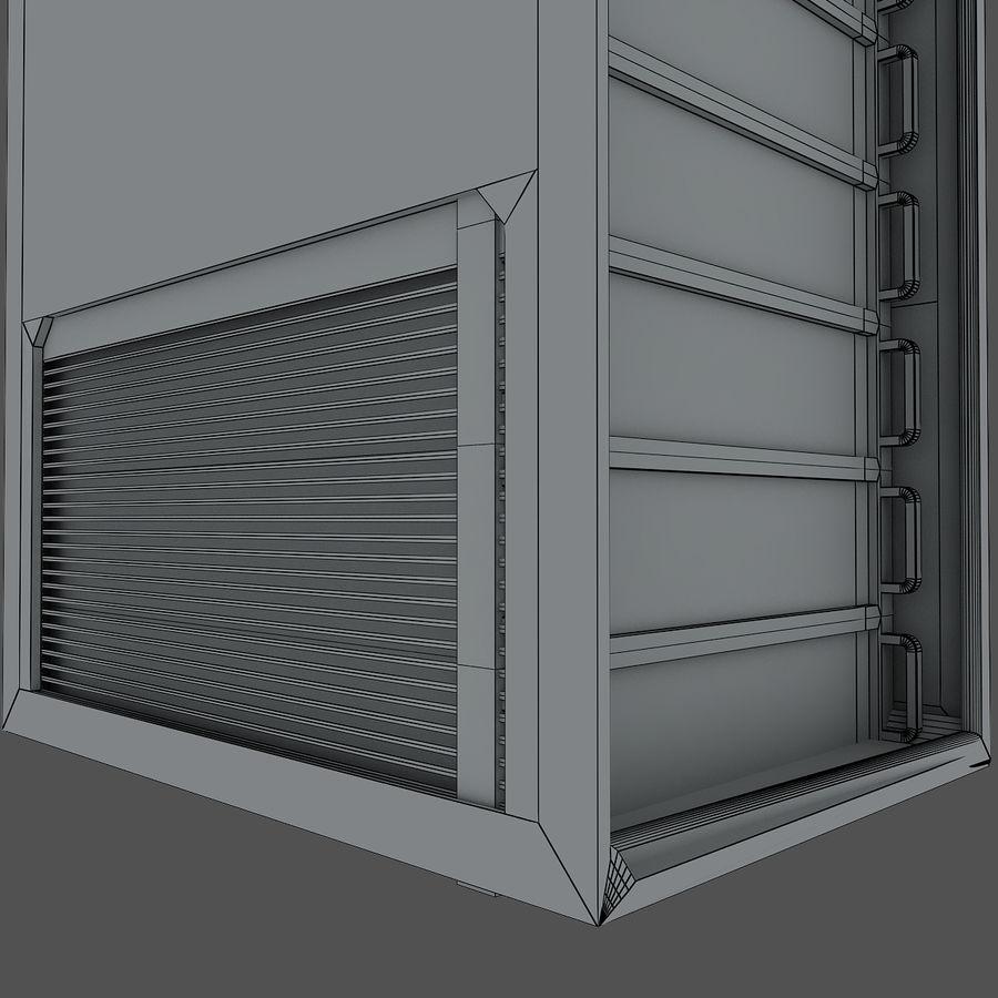 Rack server royalty-free 3d model - Preview no. 7