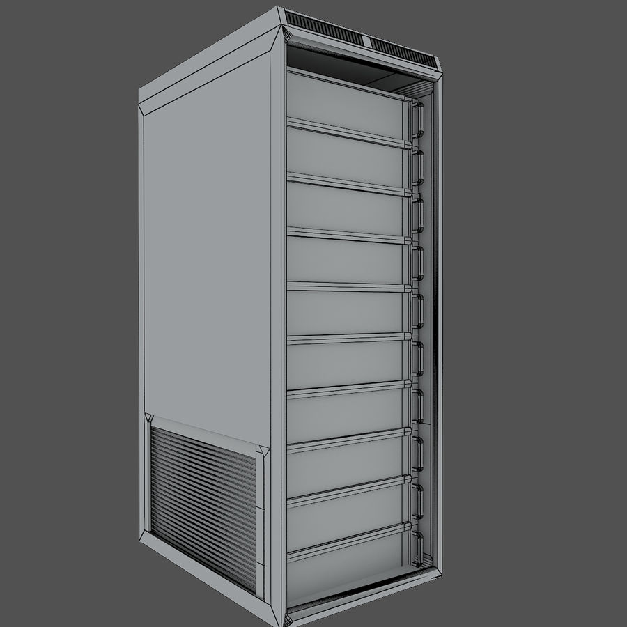 Rack server royalty-free 3d model - Preview no. 3