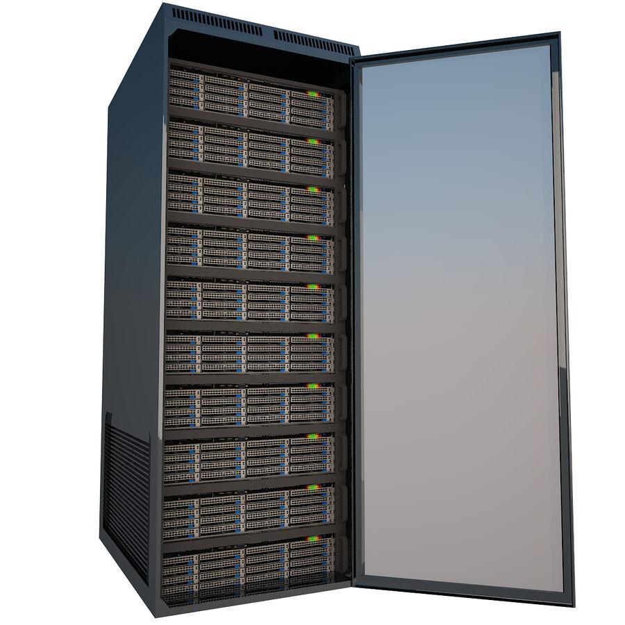 Rack server royalty-free 3d model - Preview no. 9