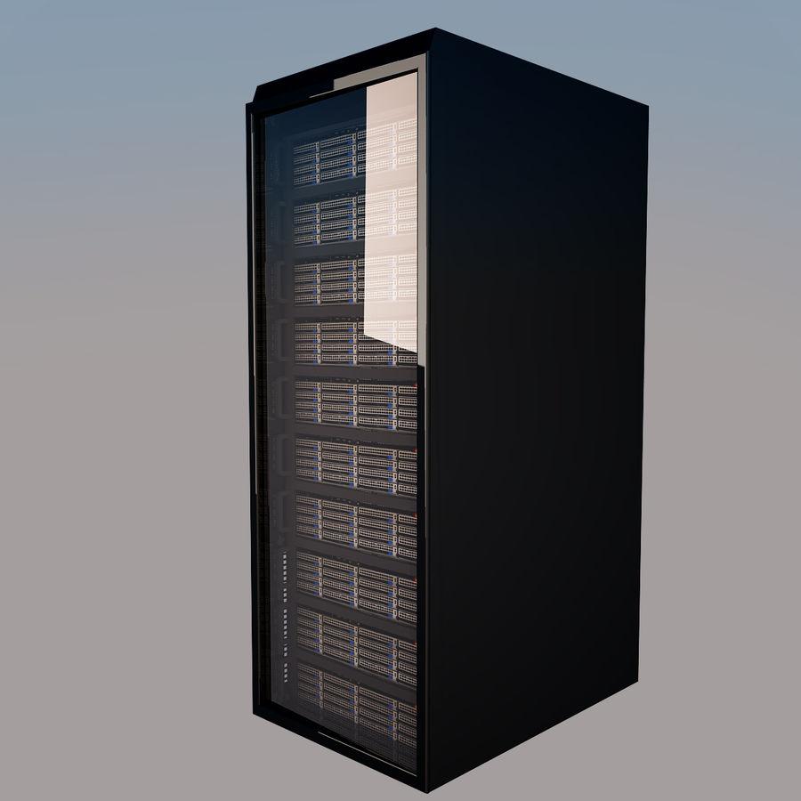 Rack server royalty-free 3d model - Preview no. 6
