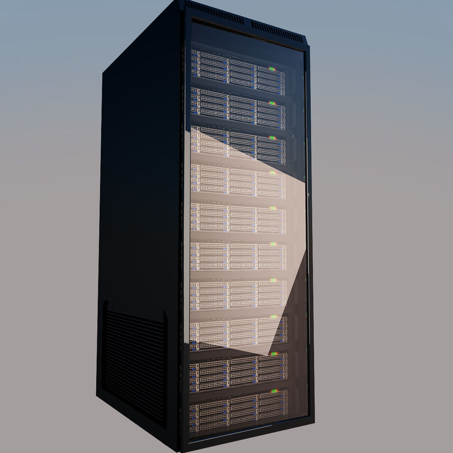 Rack server royalty-free 3d model - Preview no. 4