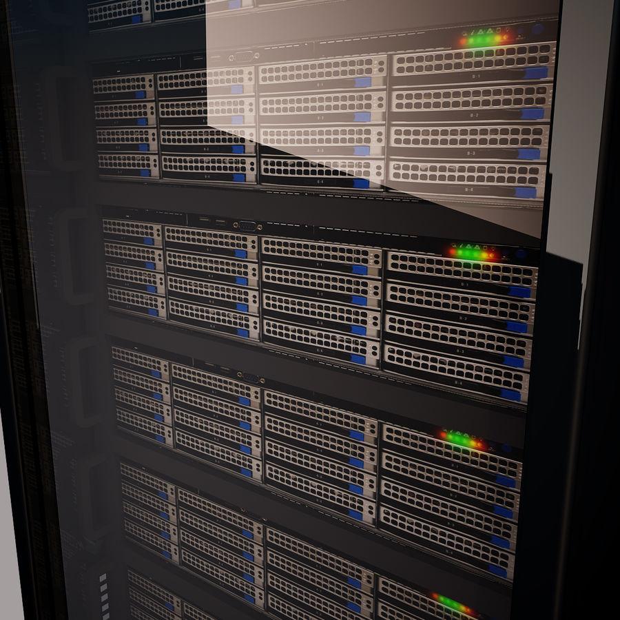 Rack server royalty-free 3d model - Preview no. 2