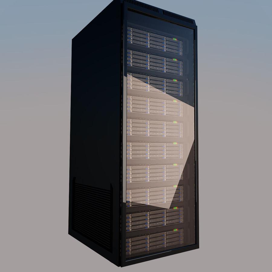 Rack server royalty-free 3d model - Preview no. 8