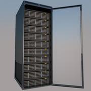 Rack de servidores modelo 3d