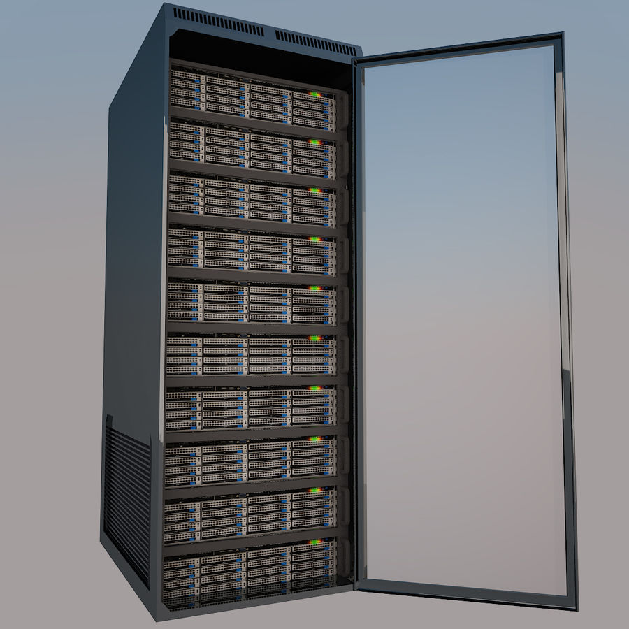 Rack server royalty-free 3d model - Preview no. 1