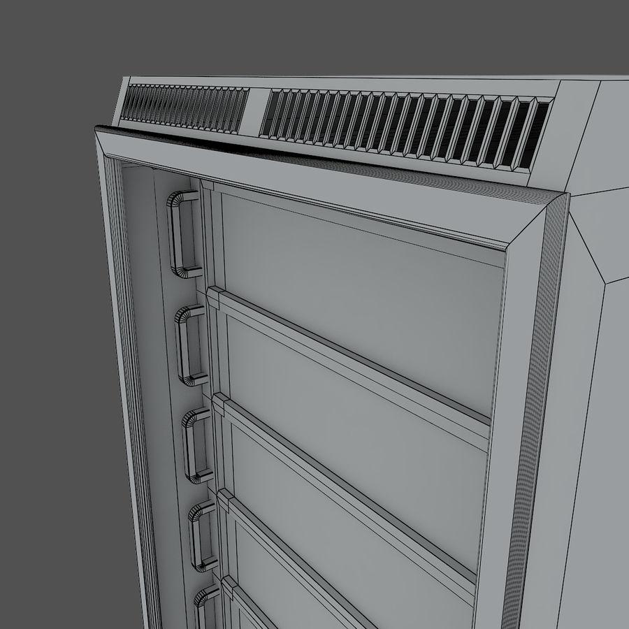 Rack server royalty-free 3d model - Preview no. 5