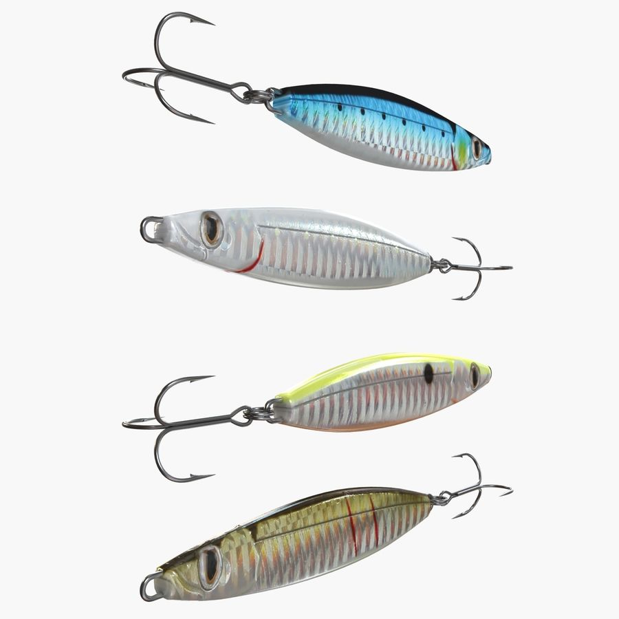 Рыболовная приманка 02 royalty-free 3d model - Preview no. 5