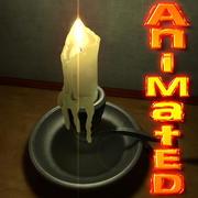 Ljusstake animerad 3d model