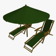 Strand parasoll 3d model