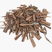Prancha de madeira Madeira serrada Restos de corte Corte de madeira Marceneiro Serragem para madeira Serrar madeira Serrarias Madeira serrada Madeira serrada (2) (2) 3d model