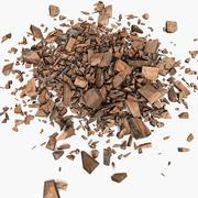Prancha de madeira madeira serrada restos de corte de corte marceneiro marcenaria madeira serragem serra floresta serração madeira serrada madeira serrada 03 3d model