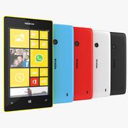 Nokia Lumia 520 Smartphone 2013 Preto, Branco, Azul, Vermelho, Amarelo 3d model
