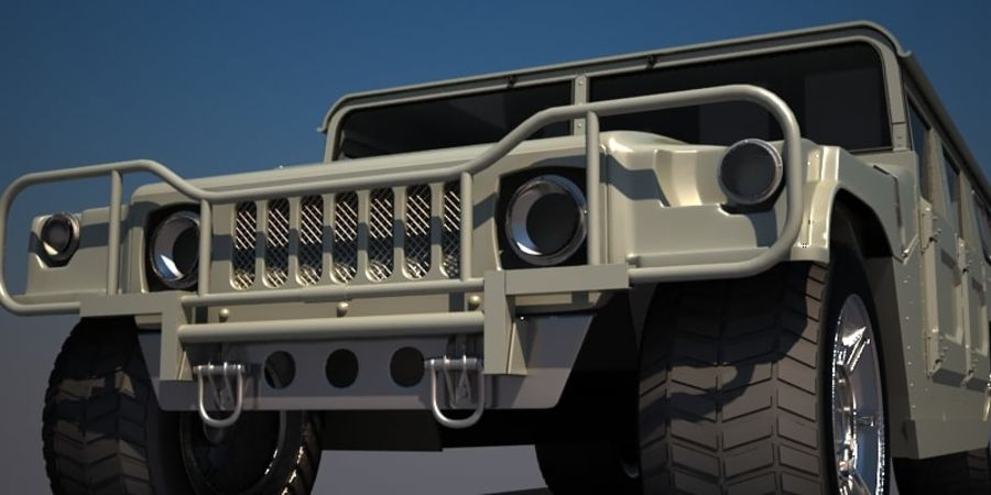 Humvee royalty-free 3d model - Preview no. 6