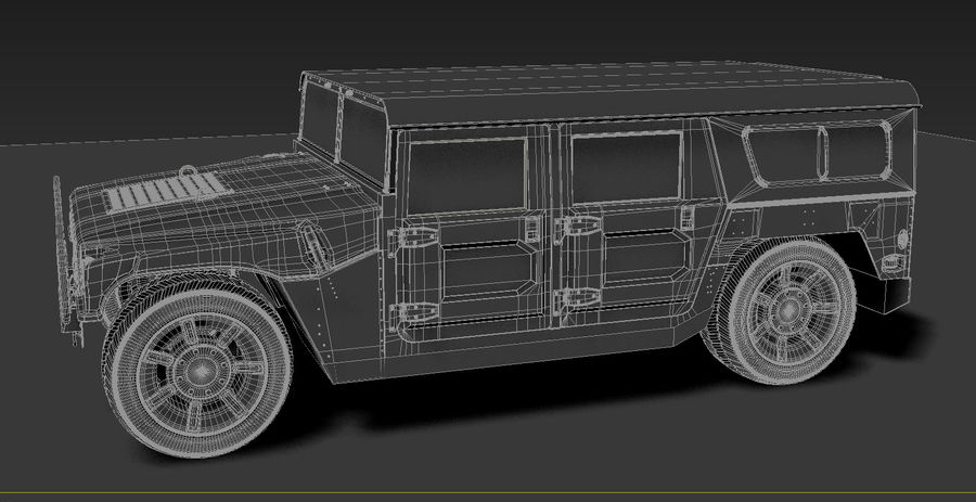 Humvee royalty-free 3d model - Preview no. 9