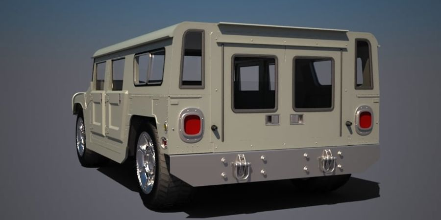 Humvee royalty-free 3d model - Preview no. 4