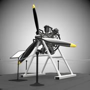 Silnik promieniowy 3d model