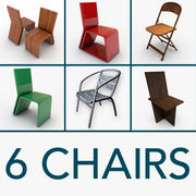6 Chairs 3d model