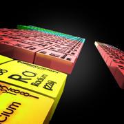 元素周期表 3d model