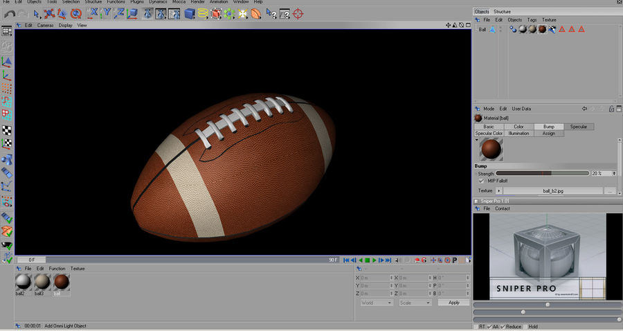 futbol amerykański royalty-free 3d model - Preview no. 20