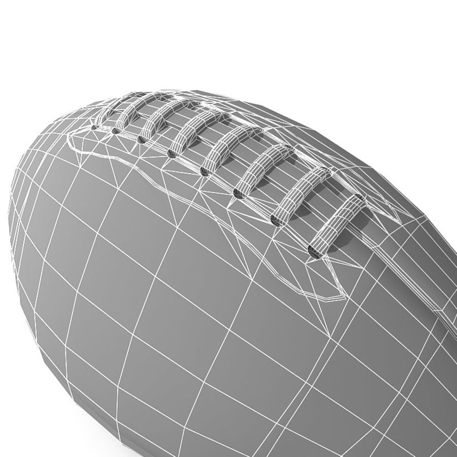 futbol amerykański royalty-free 3d model - Preview no. 10