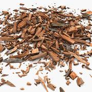 Деревянная доска, пиломатериалы, опилки, строительный мусор 3d model
