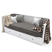IKEA HEMNES Day-bed frame, white 3d model