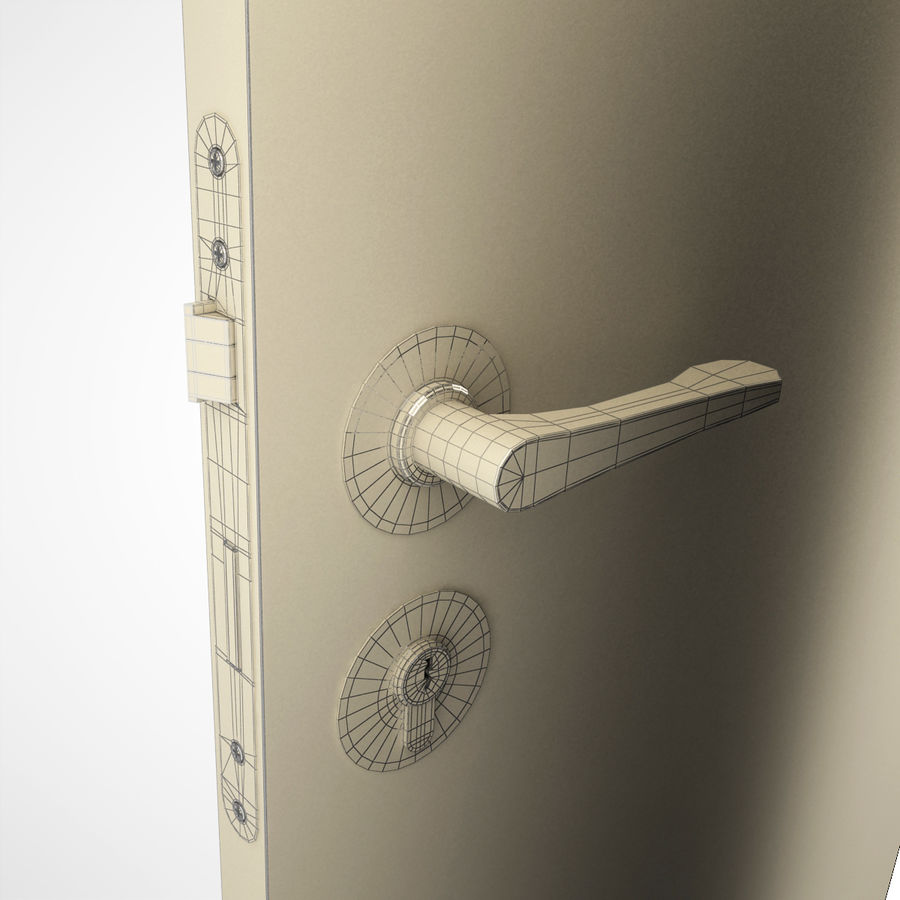 Ручка дверная ручка royalty-free 3d model - Preview no. 8