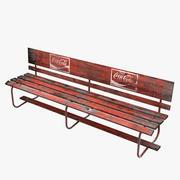 Assento urbano velho 3d model
