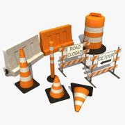 교통 장벽 3d model