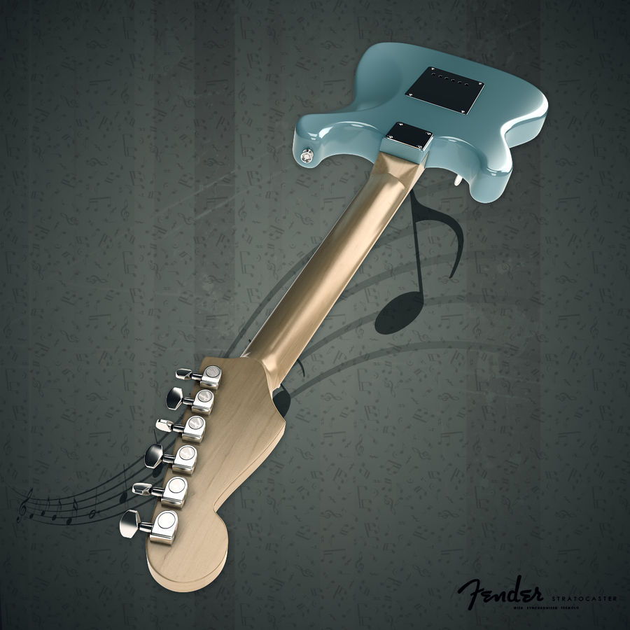 Fender Stratocaster royalty-free 3d model - Preview no. 6