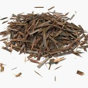 Wooden Plank Lumber Sawdust Debris (2) 3d model