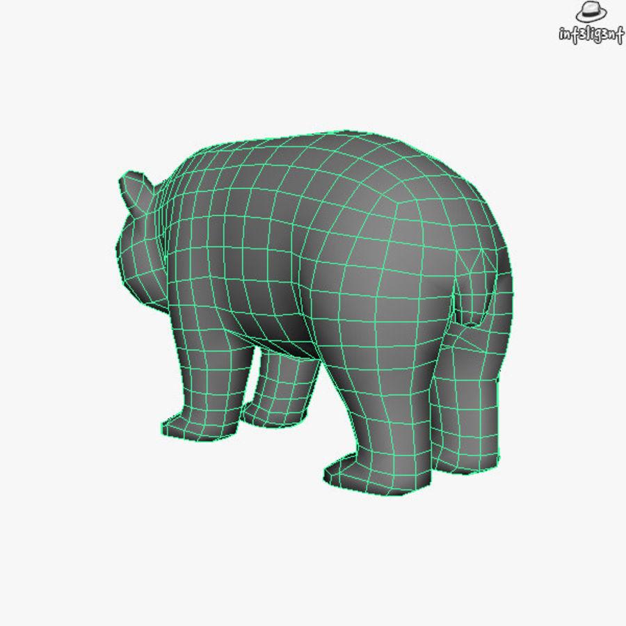 熊猫 royalty-free 3d model - Preview no. 8