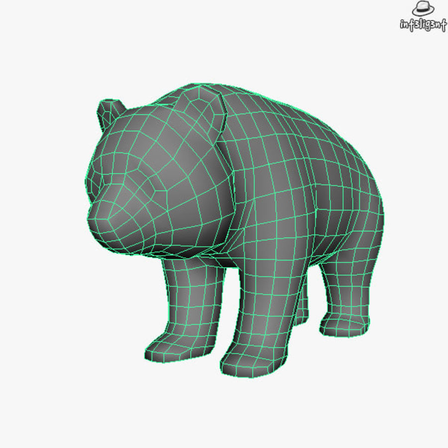 熊猫 royalty-free 3d model - Preview no. 6