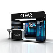Booth Clear 3d model