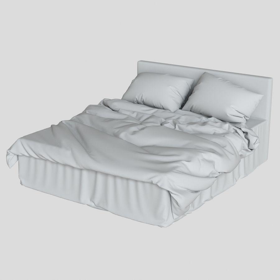 리넨 침대 royalty-free 3d model - Preview no. 11