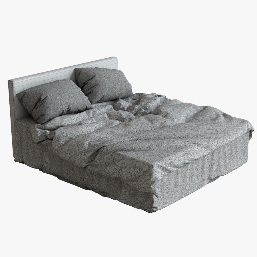 리넨 침대 royalty-free 3d model - Preview no. 5