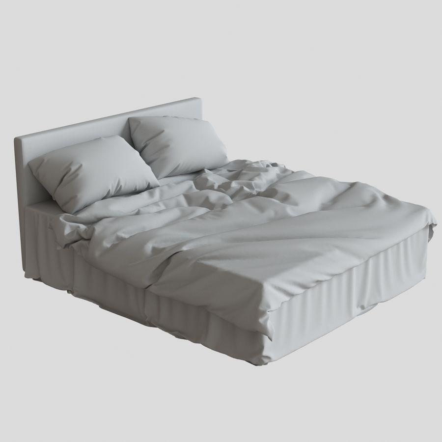 리넨 침대 royalty-free 3d model - Preview no. 12