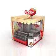 冰淇淋棒摊 3d model