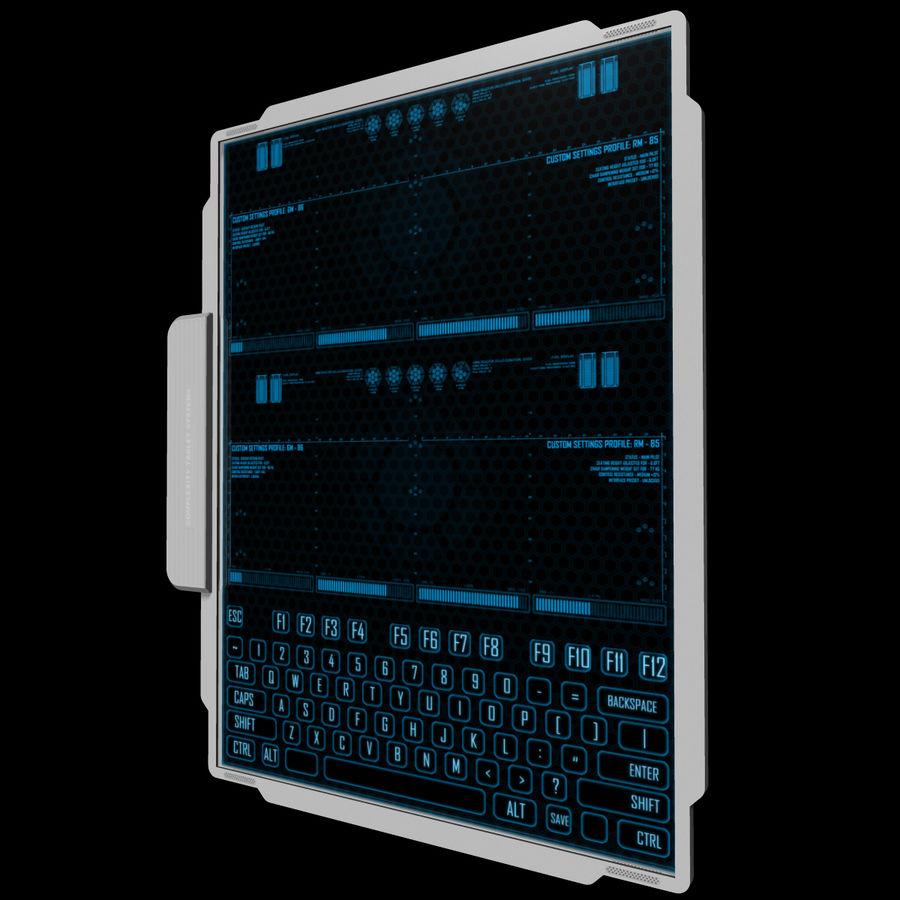 A4-gegevensblok royalty-free 3d model - Preview no. 12