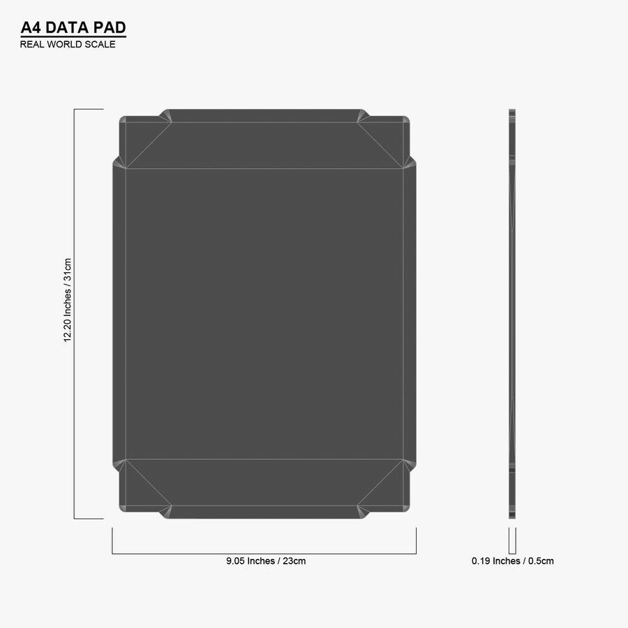A4-gegevensblok royalty-free 3d model - Preview no. 16
